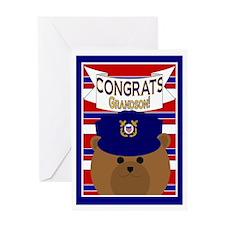 Congrats Grandson Coast Guardsman Greeting Card