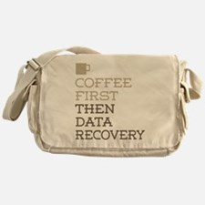 Coffee Then Data Recovery Messenger Bag