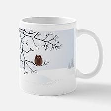 Owl in winter Mug