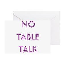 Euchre Table Talk Greeting Card