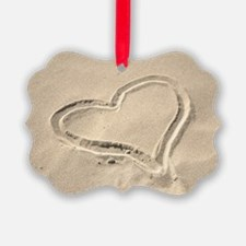 Heart in the sand Ornament