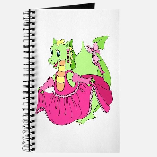 Pink Dress Dragon Journal
