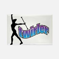 Twirler Rectangle Magnet (10 pack)
