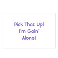 Pick Up Going Alone Postcards (Package of 8)