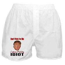 Don't Vote Trump Boxer Shorts