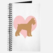 Pink Heart Schnauzer Journal