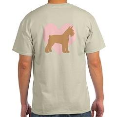 Pink Heart Schnauzer T-Shirt