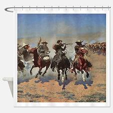 Vintage Cowboys by Remington Shower Curtain