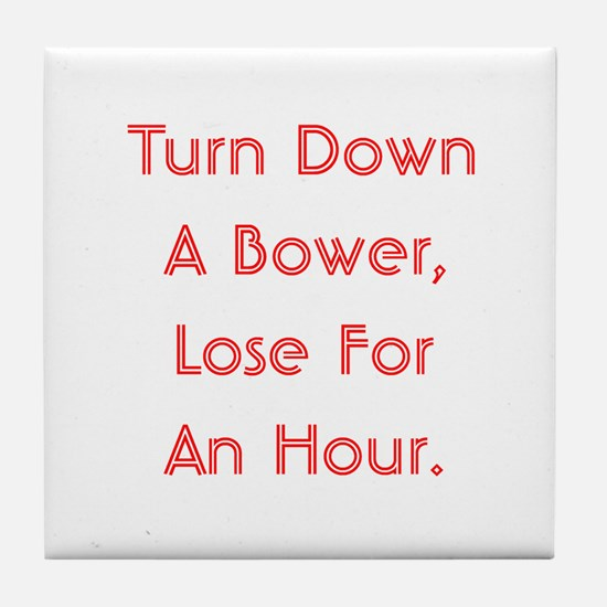 Turn Down Bower Tile Coaster
