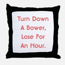 Turn Down Bower Throw Pillow