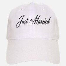Just Married Baseball Baseball Cap