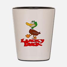 Lucky duck Shot Glass