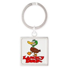 Lucky duck Square Keychain
