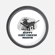 HAPPY GOAT CHEESE MONTH Wall Clock