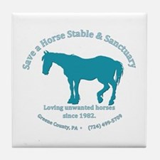 Save A Horse Stable Tile Coaster