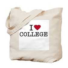 I Heart College Tote Bag