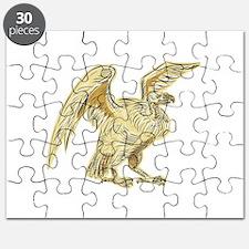 Vulture Buzzard Etching Puzzle