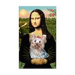 Mona & her Yorkie (T) Sticker (Rectangle)