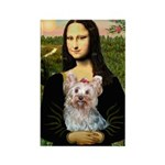 Mona & her Yorkie (T) Rectangle Magnet
