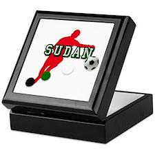 Sudan Soccer Football Player Keepsake Box