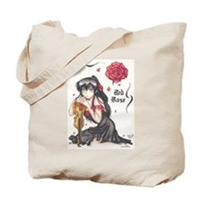 Anime Red Rose Tote Bag