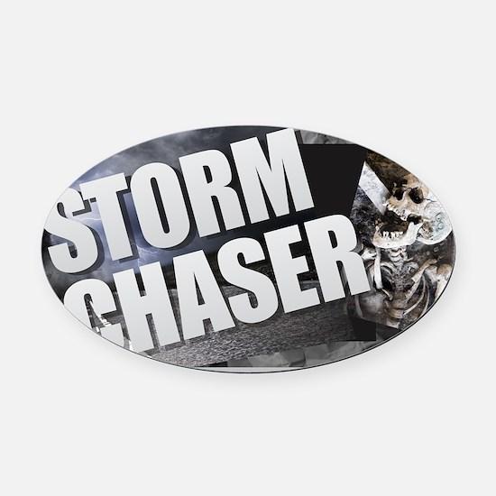 Cute Tornado chaser Oval Car Magnet