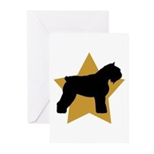 Gold Star Bouvier Greeting Cards (Pk of 10)