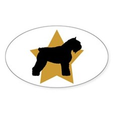 Gold Star Bouvier Oval Decal