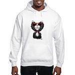 Black-White Cartoon Cat (sg) Hooded Sweatshirt