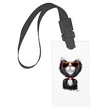 Black-White Cartoon Cat (sg) Luggage Tag