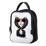 Black-White Cartoon Cat (sg) Neoprene Lunch Bag