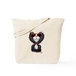 Black-White Cartoon Cat (sg) Tote Bag