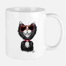 Black-White Cartoon Cat (sg) Mug