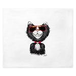 Black-White Cartoon Cat (sg) King Duvet