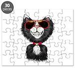 Black-White Cartoon Cat (sg) Puzzle