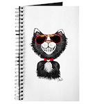 Black-White Cartoon Cat (sg) Journal