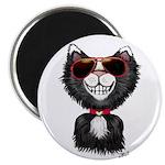 Black-White Cartoon Cat (sg) Magnet