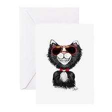 Black-White Cartoon Cat Greeting Cards (Pk of 10)