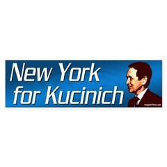 New York for Kucinich bumper sticker