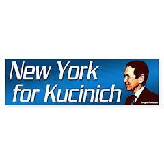 New York for Kucinich bumper sticker