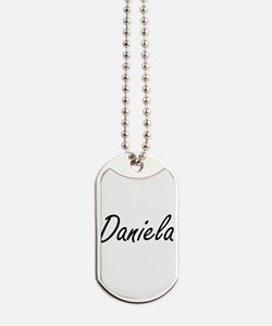 Daniela artistic Name Design Dog Tags