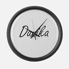 Danika artistic Name Design Large Wall Clock