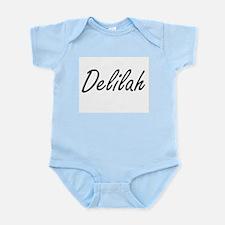 Delilah artistic Name Design Body Suit