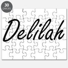 Delilah artistic Name Design Puzzle