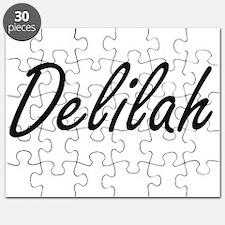 Delilah artistic Name Design Puzzle