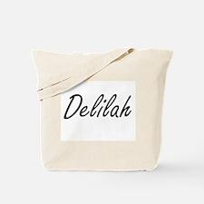 Delilah artistic Name Design Tote Bag