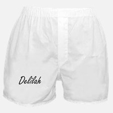 Delilah artistic Name Design Boxer Shorts