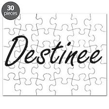 Destinee artistic Name Design Puzzle