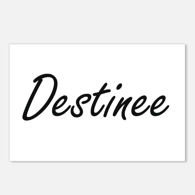 Destinee artistic Name De Postcards (Package of 8)