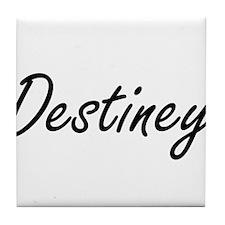 Destiney artistic Name Design Tile Coaster